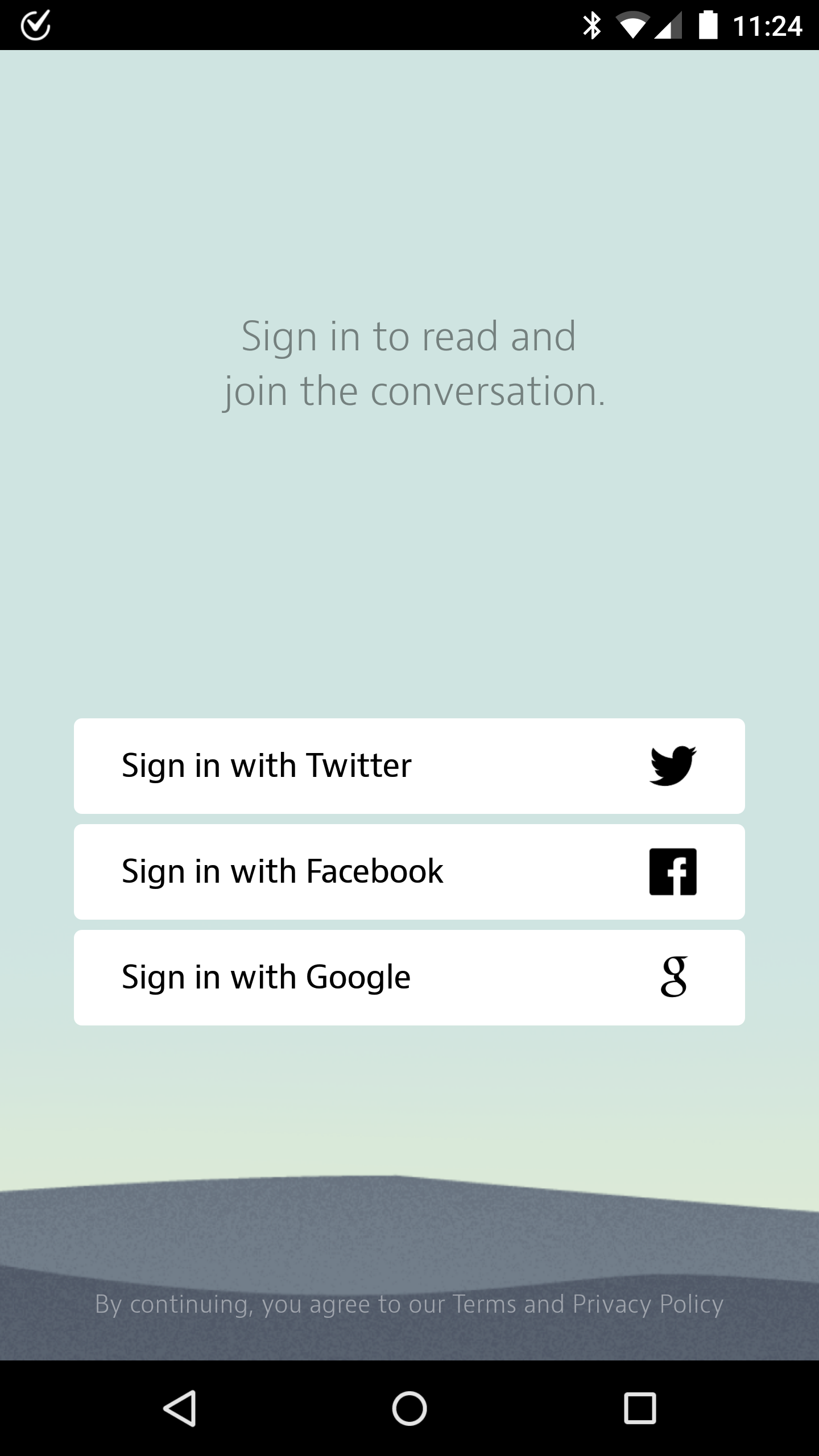 Medium login on Android