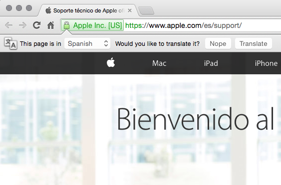 Seems I read Spanish