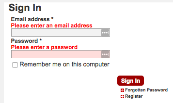 Another login page