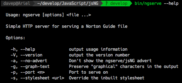 ngserve command line options